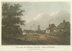 View of the Village of Freshwater, Isle of Wight